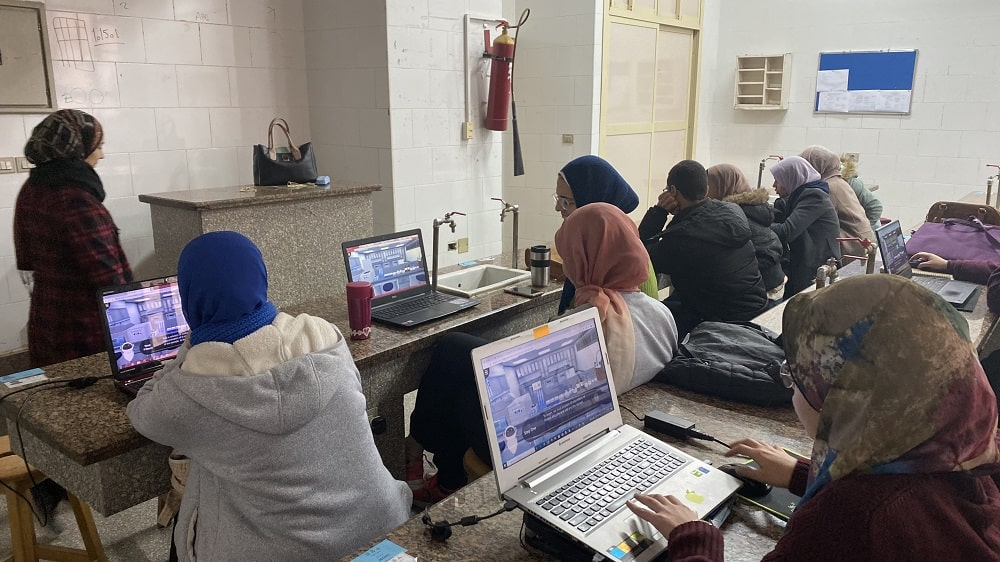 Praxilabs laboratories at the Faculty of Science, Ain Shams University
