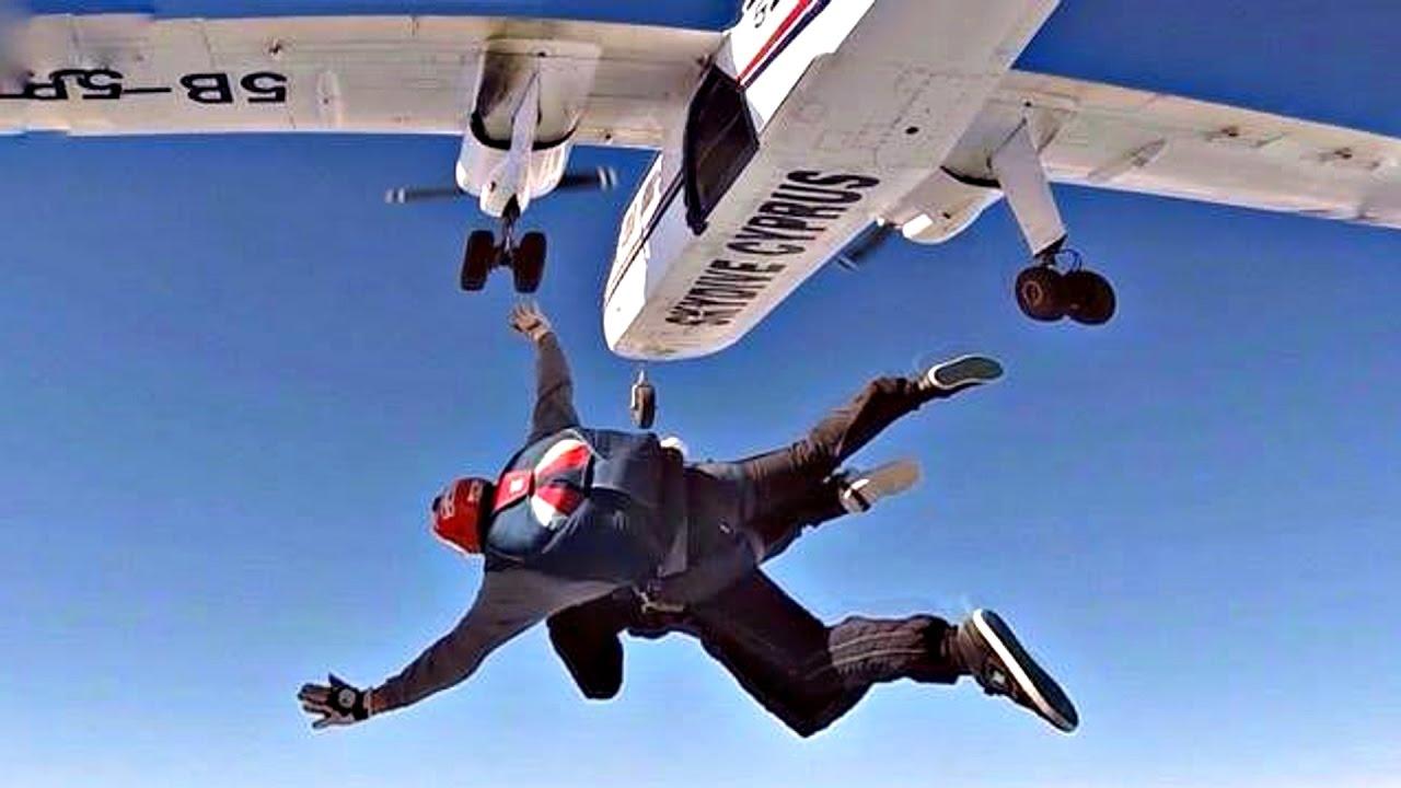 A Parachutist Who Jumps from an Aeroplane